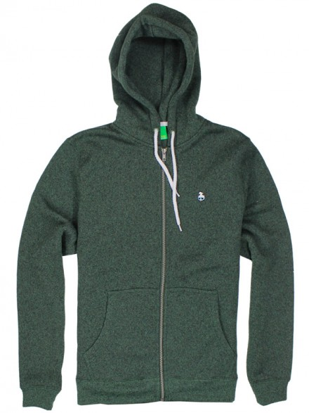 Sudadera Enjoi Grip N Zip Custom Fleece Forest Grn