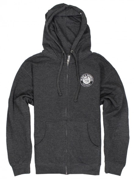 Sudadera Fallen Blood & Hammer Zip Heather Char/Blk