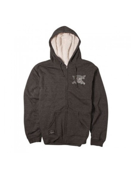 Sudadera Fourstar Chenille Sherpa Zip Charcoal
