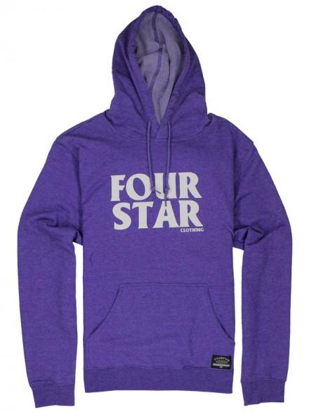 Sudadera Fourstar Hero Pullover Purple Htr