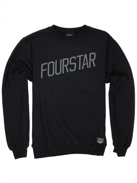 Sudadera Fourstar Slant Crew Black