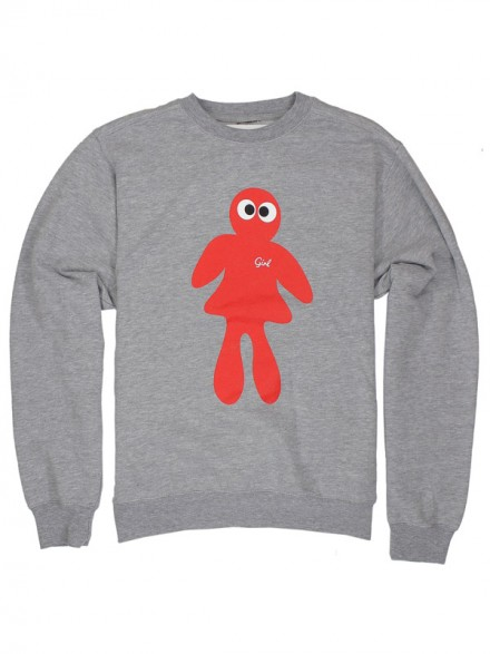 Sudadera Girl Googly Crew Heather Grey