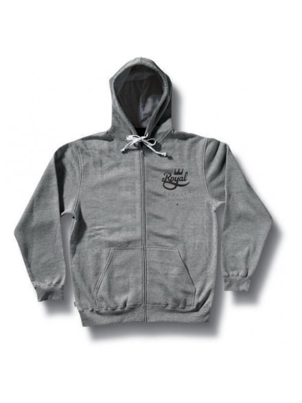 Sudadera Royal Crown Crest Zip Athletic Heather Grey