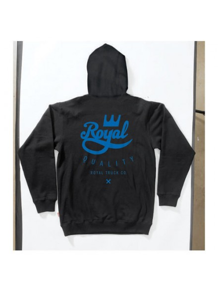 Sudadera Royal Crown Crest Zip Black