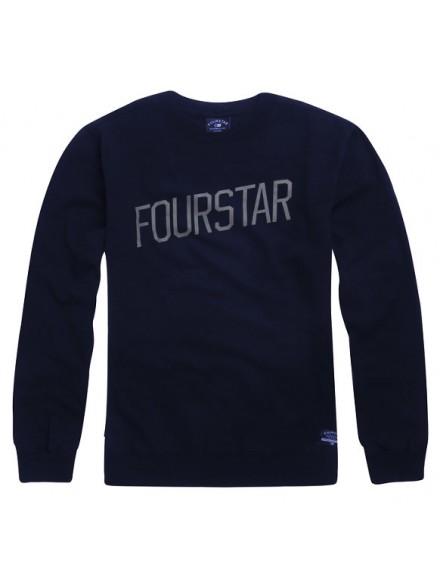 Sudadera Fourstar Slant Crew Navy