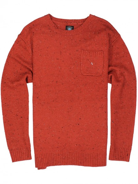 Sueter Fourstar Collective Crew Washed Red