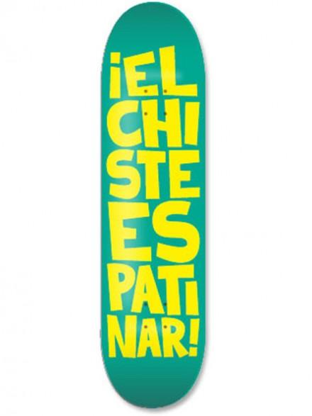 """Tabla Códice El Chiste Es Patinar Verde Amarillo 8.25"""""""