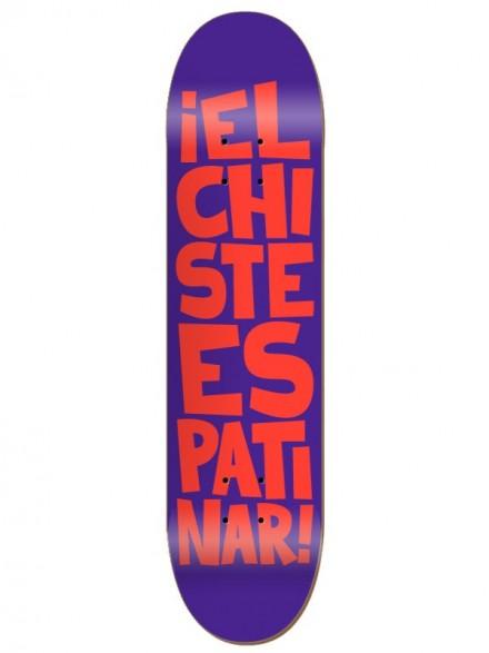 Tabla Skate Códice El Chiste Es Patinar Morado Naranja 8