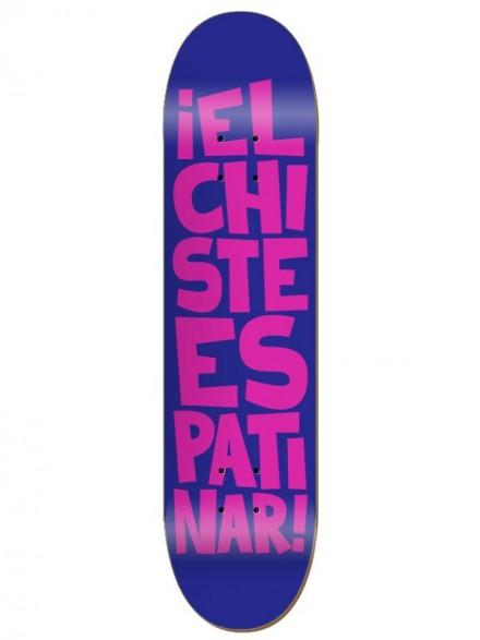 Tabla Skate Códice El Chiste Es Patinar Morado Rosa 8.125