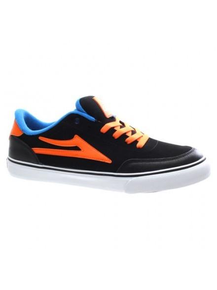 Tenis Skate Lakai Encino Black/Orange Nubuck