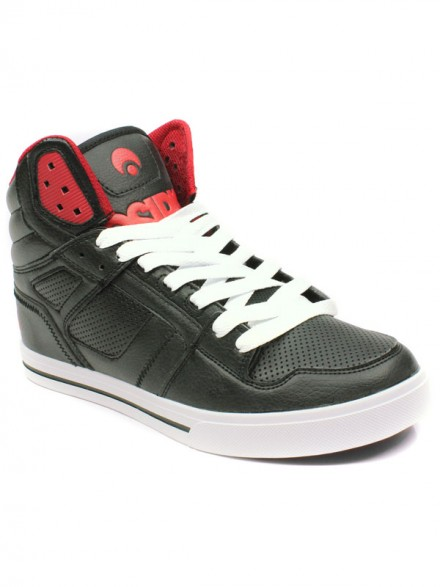 Tenis Osiris Clone Black Red Red