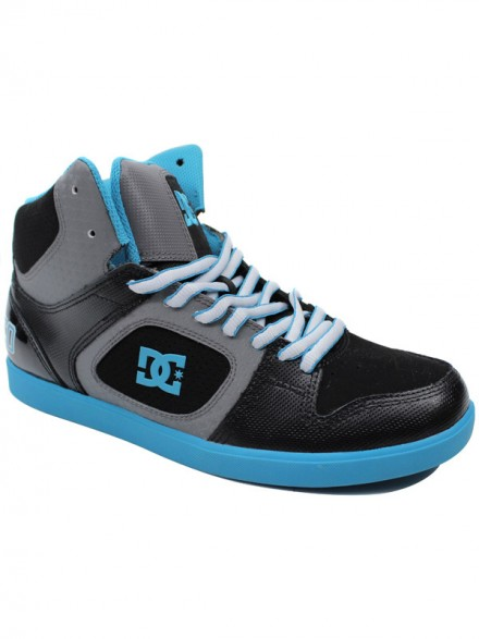 Tenis Skate Dc Union High Black/Battleship/Turquoise