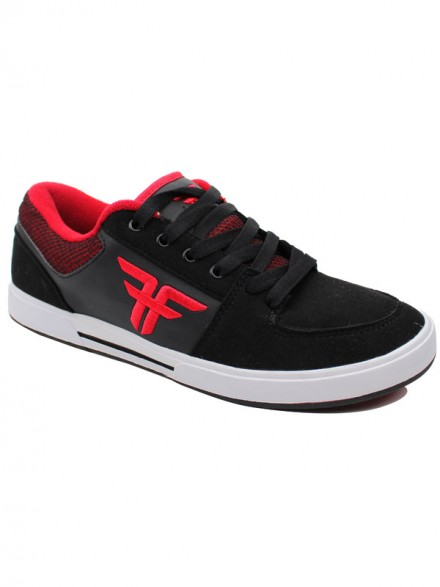 Tenis Skate Fallen Patriot Black Blood Red