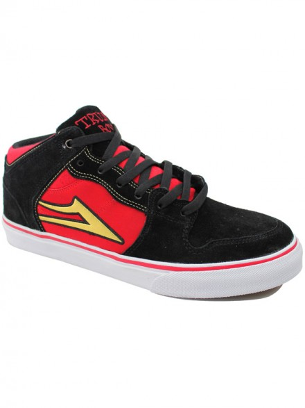 Tenis Skate Lakai Carroll Select Black Red Suede