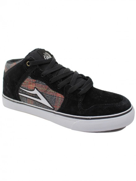 Tenis Skate Lakai Carroll Select Black White Suede