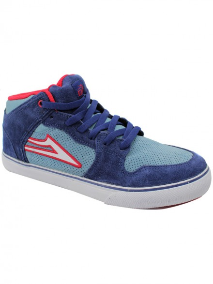 Tenis Skate Lakai Kids Carroll Select Blue/Red Suede 2
