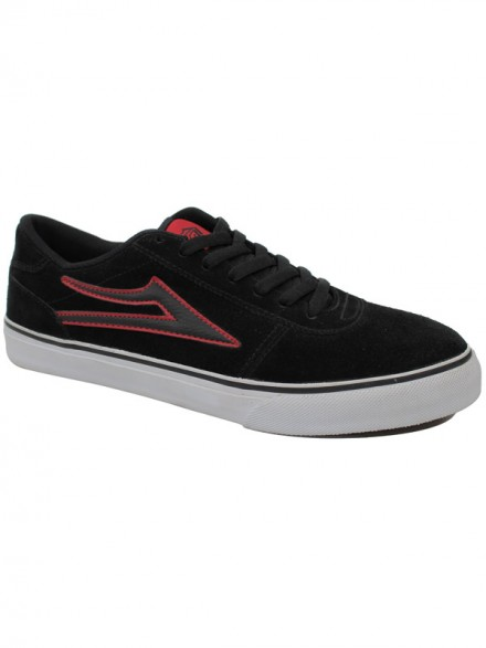 Tenis Skate Lakai Manchester Select Black Red Suede