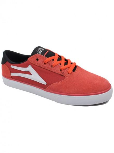 Tenis Skate Lakai Pico Orange Black Suede