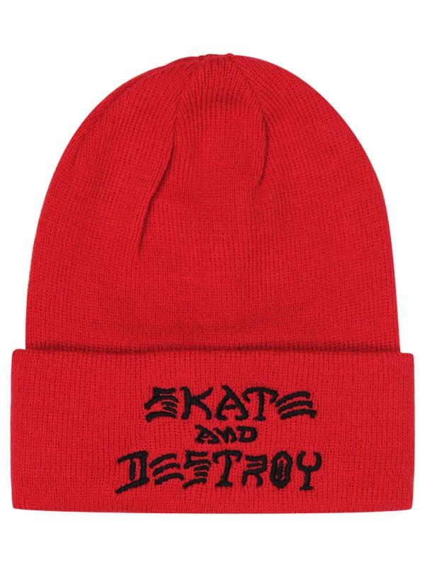 Gorro Thrasher Skate And Destroy Red  726b20b8784