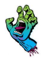 Calcomania Santa Cruz Neon Hand Green Blue Fade 5.08x7.9375cm