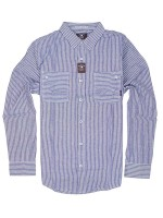 Camisa Fourstar Collective Oxford M/L Navy Pinstripe