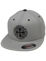 Gorra Independent Metallic Cross Flexfit Gris