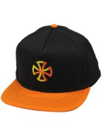 Gorra Independent Sign Negro Naranja