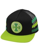 Gorra Independent Stripes Negro Verde