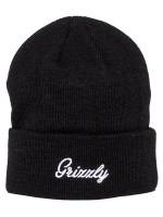 Gorro Grizzly Cursive Fold Black