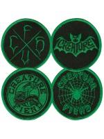 Paquete de Parches Creature Fiend Club Black Green