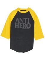 Playera Antihero Black Leage 3/4 Black Yellow