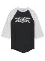 Playera Antihero White Eagle 3/4 Black White