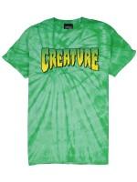 Playera Creature Logo Verde Manchas