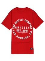 Playera Grizzly Long Distance Red