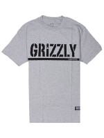 Playera Grizzly OG Stamp Logo Basic Heather Grey
