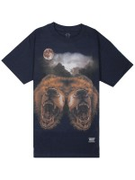 Playera Grizzly Roar At The Moon Navy