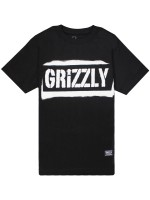 Playera Grizzly Stencil Stamp Black