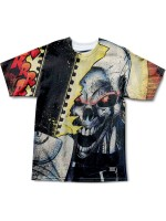 Playera Grizzly X Ghost Rider Chainsaw Knit Black Tie Dye