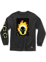 Playera Grizzly X Ghost Rider Cover M/L Black
