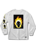 Playera Grizzly X Ghost Rider Cover M/L White