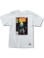 Playera Grizzly X Ghost Rider Cover White