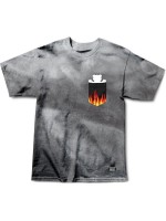 Playera Grizzly X Ghost Rider Flame Pocket Tie Dye