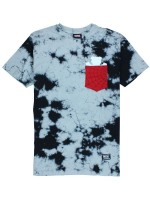 Playera Grizzly X Spider-Man Pocket Black Tie Dye
