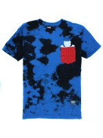 Playera Grizzly X Spider-Man Pocket Blue Tie Dye