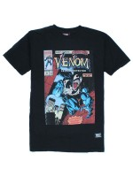 Playera Grizzly X Venom Cover Black