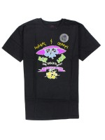 Playera Krooked Flowers & Creeps Black