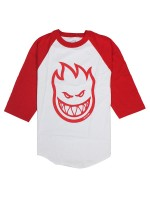 Playera Spitfire Bighead 3/4 White Red