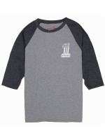 Playera Spitfire Lil #1 Prem 3/4 Charcoal Black