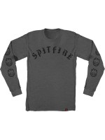 Playera Spitfire Old E M/L Charcoal Heather Black