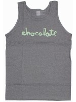 Playera Tank Chocolate Distressed Chunk Charcoal Heather